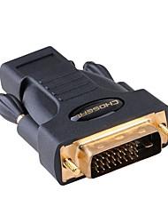 DVI Adaptador, DVI to HDMI 1.4 Adaptador Macho-Fêmea Cobre banhado a ouro
