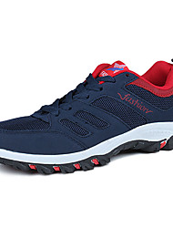 cheap -Hiking Shoes Men's Athletic Shoes Comfort Rubber Spring Fall Outdoor  Comfort Lace-up Flat Heel Blue Gray Black Under 1in
