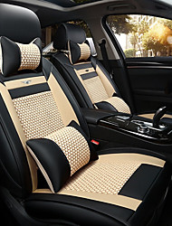 cheap -The New Car Seat Cushion Leather Seat Cover Four Seasons General Ice All Around Five Seats To 2 Seat Headrest Backrest Black Beige