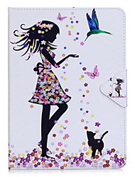 cheap -Case For Apple iPad Mini 4 iPad Mini 3/2/1 iPad 4/3/2 iPad Air 2 iPad Air with Stand Flip Full Body Cases Butterfly Sexy Lady Hard PU