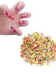 cheap -New 1000pcs/pack Nail Art 3D Fruit Fimo Slices Polymer Clay DIY Slice Decoration Nail Sticker
