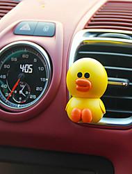 Ornamento de perfume do carro ursos marrons musk fresco pode ni coelho rosas frescas shali pato fragrância automotriz purificador de ar