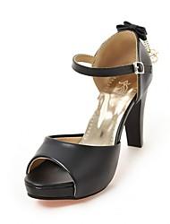 Недорогие -Для женщин Сандалии Удобная обувь Оригинальная обувь Лето Осень Дерматин Полиуретан Для праздника Для вечеринки / ужина Бант На толстом