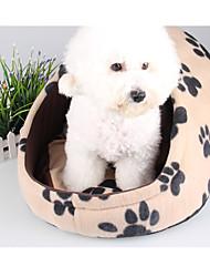 Недорогие -Собака Кровати Животные Коврики и подушки Леопард Footprint / Paw Розовый Цвет-леопард Для домашних животных