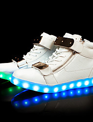 Men's Sneakers Light Up Shoes Light Soles TPU Fall Winter Casual Outdoor Party & Evening LED Low Heel Black White Under 1in
