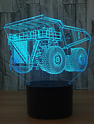 Cdn Super Truck 7 Color 3D Visual Led Night Lights For Kids Touch Usb Table Lampara