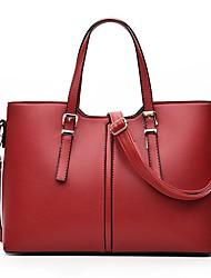 cheap -Women Bags All Seasons PU Shoulder Bag for White Black Blushing Pink Fuchsia Wine