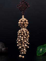 baratos -Diy pendentes automotivos decoração de carro de madeira nó chinês moda boa sorte ferry carro pendente&Ornamentos thymelaeaceae