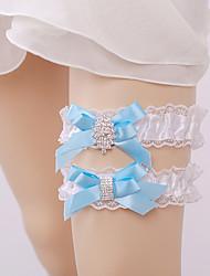 cheap -Nylon Lace Wedding Wedding Garter with Rhinestone Garters