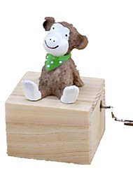 cheap -Music Box Wood Monkey Carousel Animals Castle in the Sky Lovely Unisex Gift