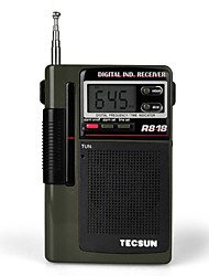 cheap -TECSUN R-818 FM Portable Radio FM Radio / Built in out Speaker / Alarm Clock World Receiver Light Brown
