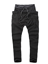 cheap -Men's Mid Rise Micro-elastic Harem Loose Active Pants,Street chic Solid Winter Fall