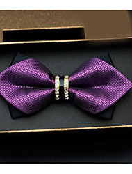 cheap -Men's Polyester Bow Tie,Others Print Gold Black Red Purple Fuchsia