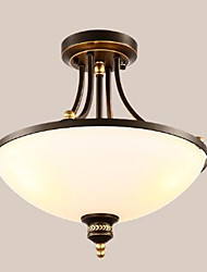 cheap -Retro Flush Mount Ambient Light - Eye Protection, 110-120V / 220-240V Bulb Not Included