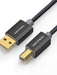 USB 2.0 Kabel, USB 2.0 to USB Typ B, Kabel Male - Male 3.0M (10Ft)