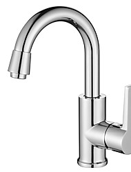 cheap -Bathroom Sink Faucet - Modern / Contemporary Chrome Modern / Contemporary Deck Mounted