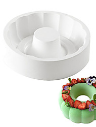 cheap -White Silicone Non-stick Round Paradise Cake Decorating Tools For Baking Brownie Chiffon Sponge Birthday Party Cakes Pan