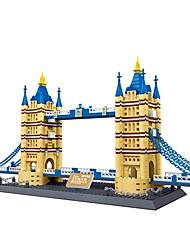 cheap -WANGE Building Blocks Model Building Kits Toys Famous buildings Architecture London Bridge Plastics Pieces
