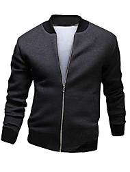 cheap -Men's Cotton Jacket - Color Block Stand