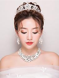 abordables -rhinestone tiaras headpiece wedding party elegante estilo femenino