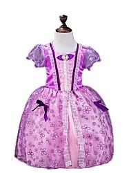 abordables -Princesse Conte de Fée Sofia Robes Fille Halloween Carnaval Le Jour des enfants Fête / Célébration Déguisement d'Halloween Violet Rétro