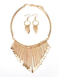 cheap -Women's Jewelry Set - Fashion, Statement Include Drop Earrings / Harness Necklace Gold For Ceremony / Evening Party