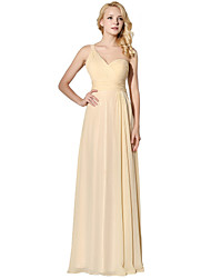 cheap -Sheath / Column One Shoulder Floor Length Chiffon Rehearsal Dinner Formal Evening Dress with Side Draping by Sarahbridal