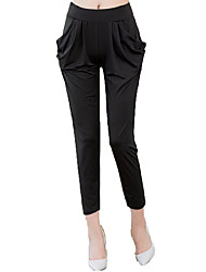 cheap -Women's Low Rise Micro-elastic Harem Chinos Pants,Casual Solid Acrylic Spring Summer