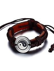 cheap -Men's Luxury Bohemian Leather Bracelet - Luxury Vintage Bohemian Friendship Movie Jewelry Turkish Hip-Hop Fashion Gothic Rock Stretch Punk