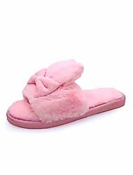 Feminino Chinelos e flip-flops Solados com Luzes Outono Inverno Borracha Couro Ecológico Casual Social Rasteiro Cinzento Fúcsia Azul Rosa