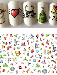 cheap -1pcs Happy Merry Christmas Nail Art 3D Sticker Cute Design Fashion Xmas Self Adhesive DIY Manicure Beauty F280