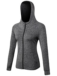 cheap -Women's Running Jacket Long Sleeves Anatomic Design Breathability Stretchy Tracksuit Zip Top for Running/Jogging Camping / Hiking Cycling