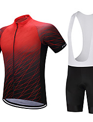 cheap -FUALRNY® Cycling Jersey with Bib Shorts Men's Short Sleeves Bike Clothing Suits Quick Dry Moisture Permeability Reduces Chafing