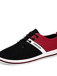 economico -Da uomo Sneakers Comoda Primavera Autunno Denim Casual Più materiali Piatto Nero Grigio Blu Piatto