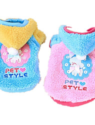 Dog Hoodie Dog Clothes Casual/Daily Cartoon Blue Blushing Pink