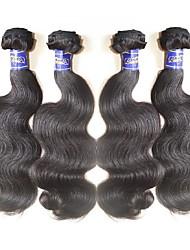 4bundles 400g lot punte vergini peruviane del corpo 10a di onda dell'onda del corpo per terminare i capelli intrecciano il colore dei