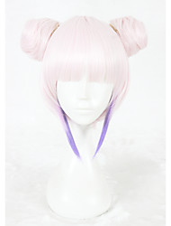 cheap -Synthetic Wig Straight Faux Locs Wig Pink Capless Cosplay Wig Short Synthetic Hair