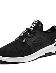 Men's Athletic Shoes Comfort Light Soles Fall Winter Breathable Mesh PU Running Shoes Athletic Casual Outdoor Lace-up Flat Heel Screen