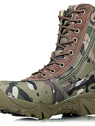 cheap -Men's Shoes Canvas Fall / Winter Bootie Boots Hiking Shoes Green