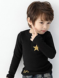 Childrens' Fashionable Cool  Winter Hot Style High Neck Wool Pentagram  Long-Sleeved Tunic Backing Shirt