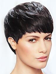 Simple, gris, noir, court, cheveux, cheveux, cheveux, perruques