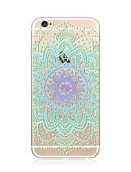 economico -Custodia Per Apple iPhone X iPhone 8 Plus Transparente Fantasia/disegno Custodia posteriore Fiori Mandala La stampa in pizzo Morbido TPU