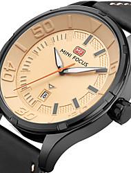 cheap -MINI FOCUS Men's Sport Fashion Watches Wristwatch Luxury Waterproof Calendar Quartz Genuine Leather Band Clock Relogio Masculino Hombre
