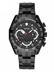 Недорогие -Муж. Модные часы Кварцевый Горячая распродажа Нержавеющая сталь Группа На каждый день Черный Серебристый металл Золотистый