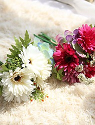 10inch Large Size 7 Heads Silk Polyester Peonies Daisies Tabletop Flower Artificial Flowers
