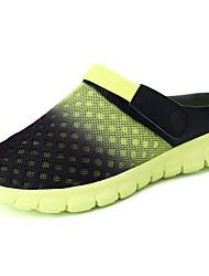 Men's Shoes Tulle All Season Comfort Slippers & Flip-Flops For Casual Khaki Blue Green Orange Black