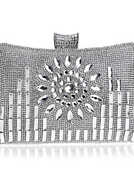 cheap -Bags Polyester Evening Bag Crystals for Wedding / Event / Party Gold / Black / Silver
