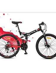 Bicicleta De Montanha Bicicleta Dobrável Ciclismo 24 velocidade 26 polegadas/700CC YINXING Freio a Disco Suspensão Garfo Comum Dobrável
