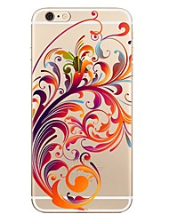Назначение iPhone X iPhone 8 iPhone 8 Plus Чехлы панели Прозрачный С узором Задняя крышка Кейс для Цветы Мягкий Термопластик для Apple