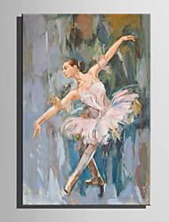 Mini Size E-HOME Oil painting Modern Ballet Woman Pure Hand Draw Frameless Decorative Painting
